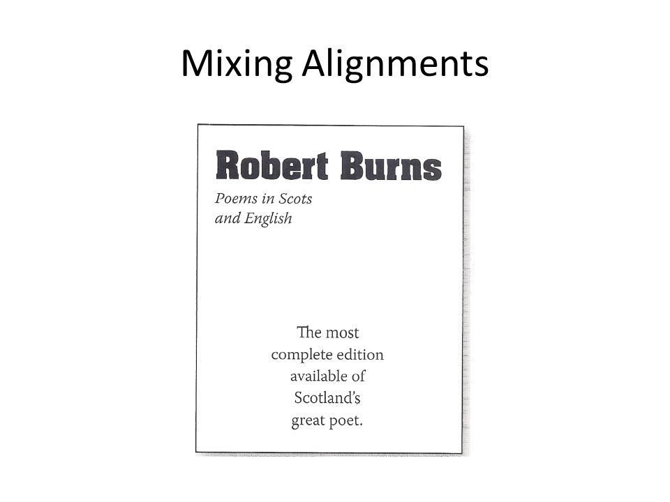 Mixing Alignments