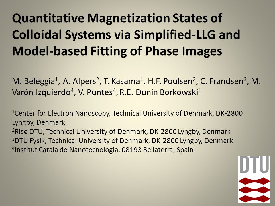 Quantitative Magnetization States of Colloidal Systems via Simplified-LLG and Model-based Fitting of Phase Images M.