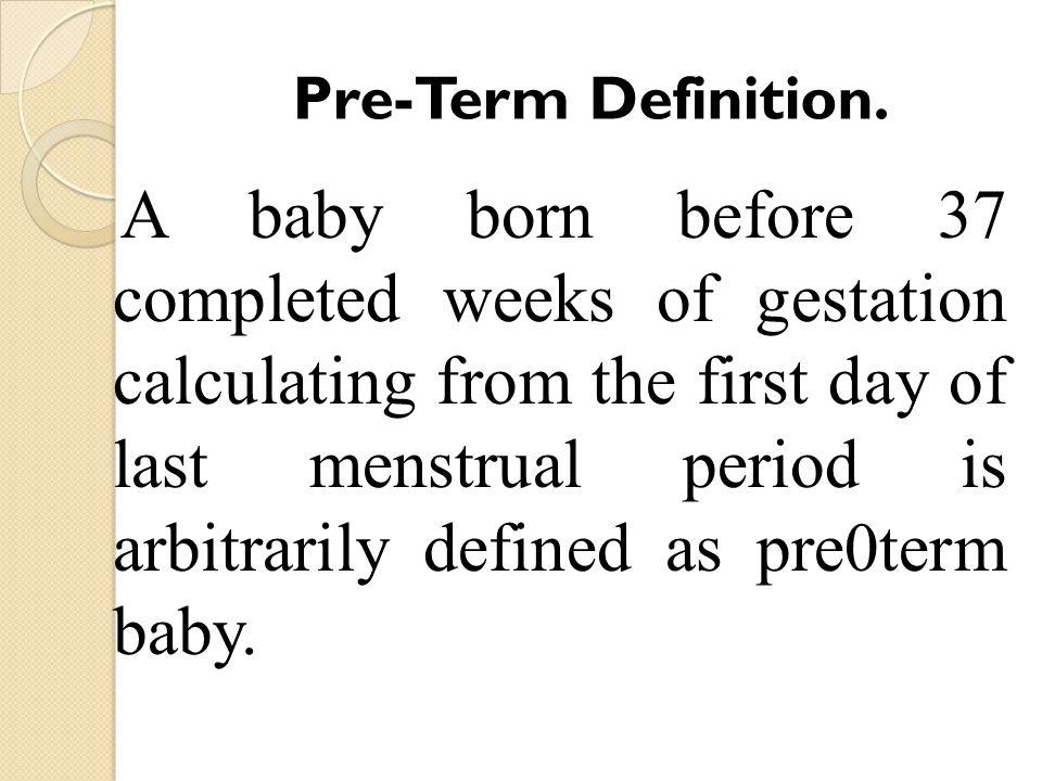 Pre-Term Definition.