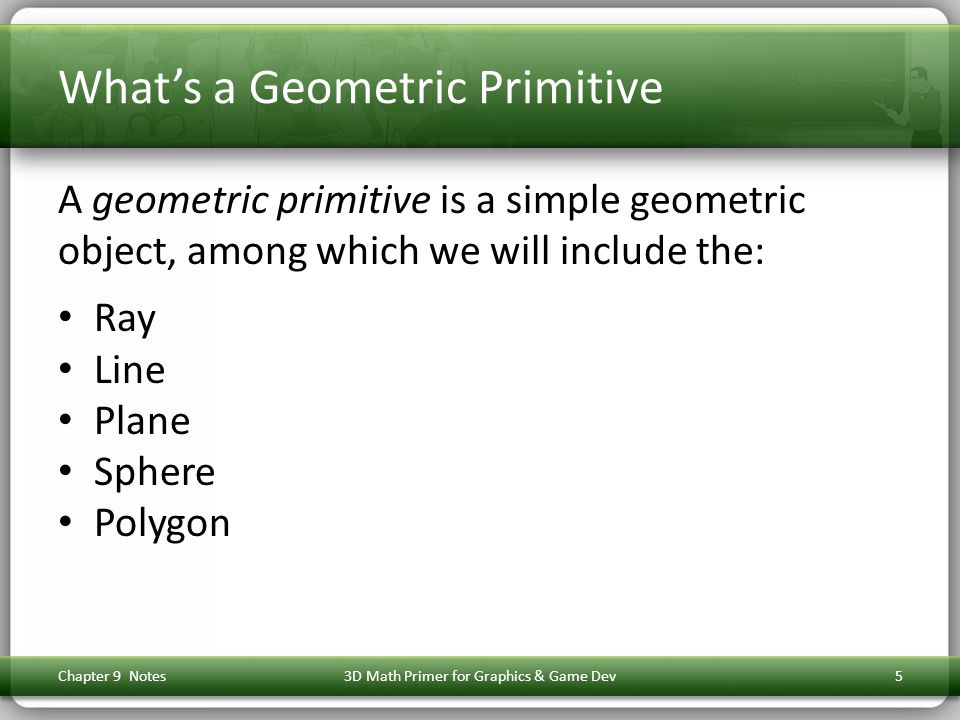 Some Line Conversions 6 Perpendicular bisector to implicit form: Chapter 9 Notes3D Math Primer for Graphics & Game Dev36