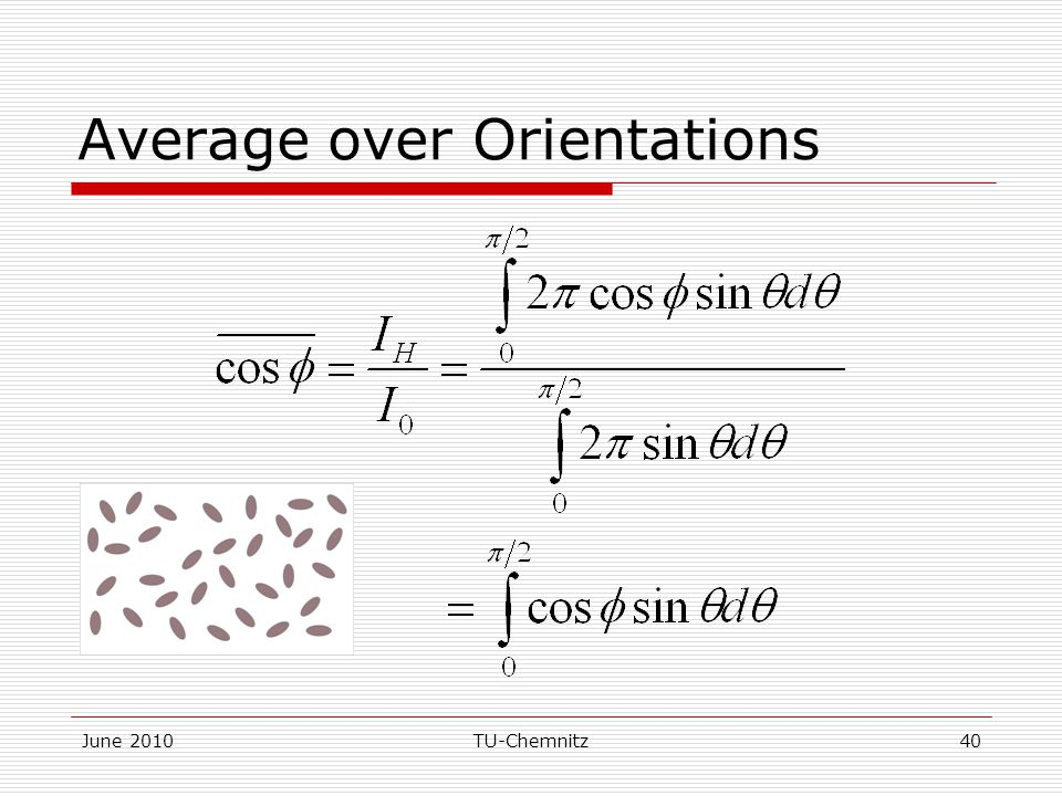 June 2010TU-Chemnitz40 Average over Orientations