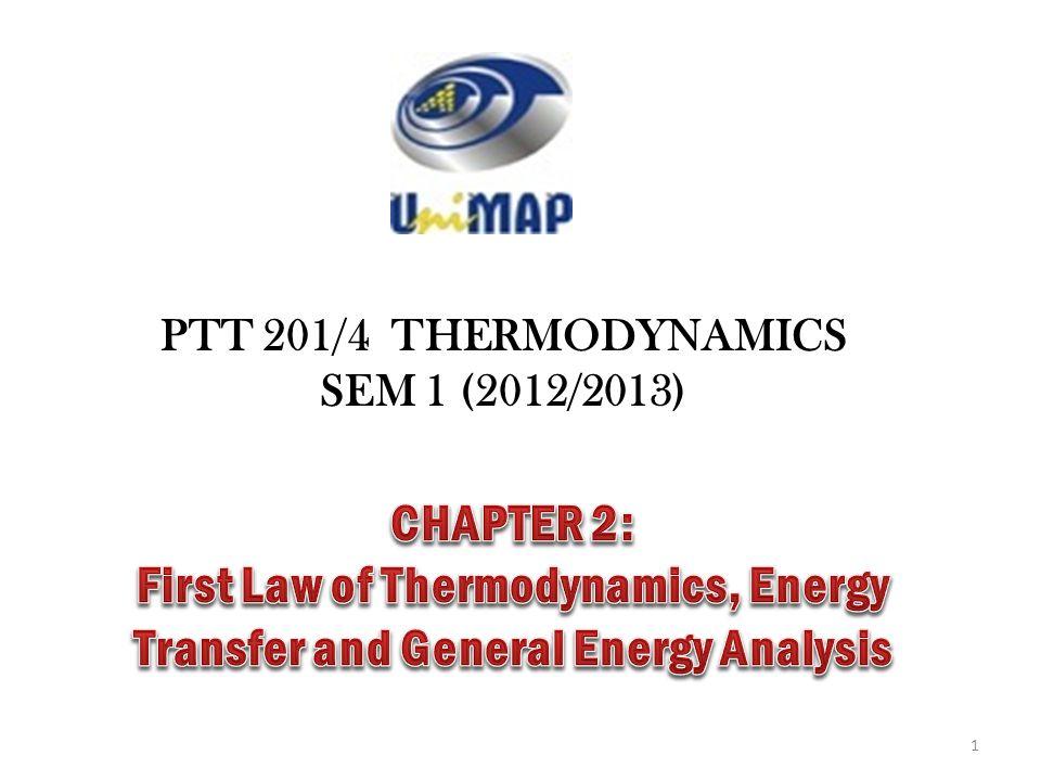 PTT 201/4 THERMODYNAMICS SEM 1 (2012/2013) 1