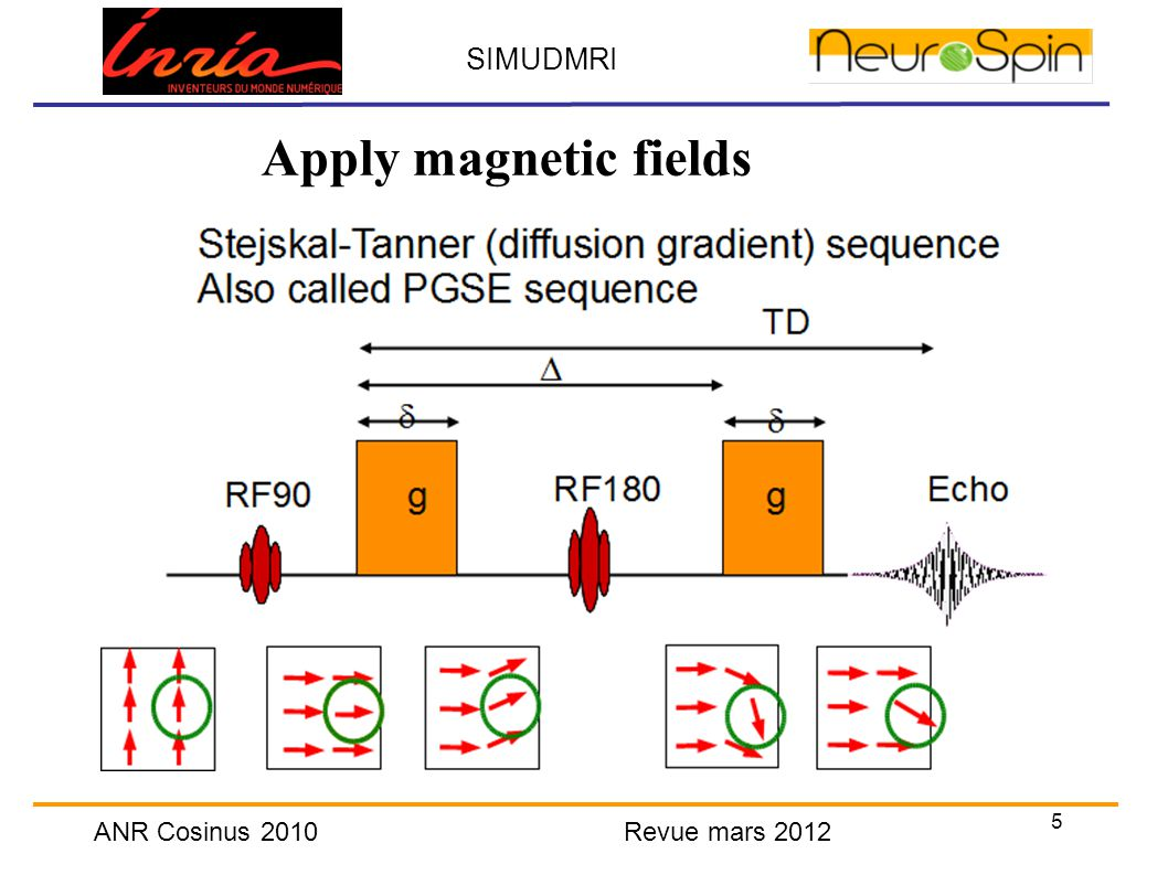 5 SIMUDMRI ANR Cosinus 2010 Revue mars 2012 Apply magnetic fields