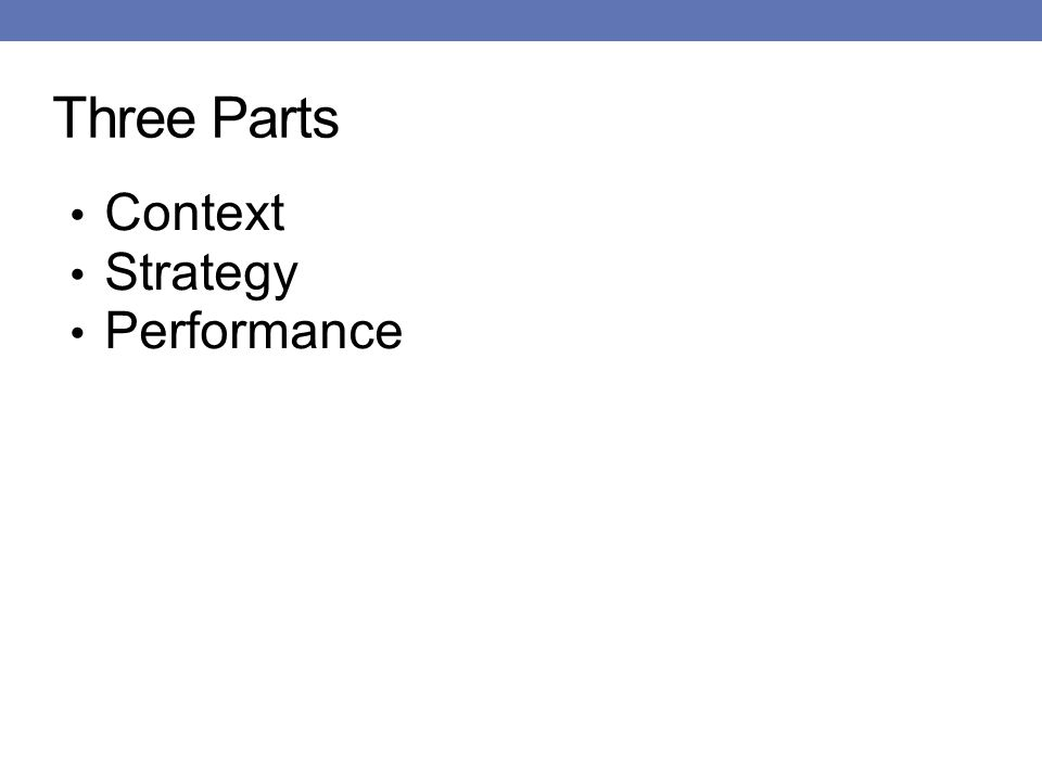 Three Parts Context Strategy Performance