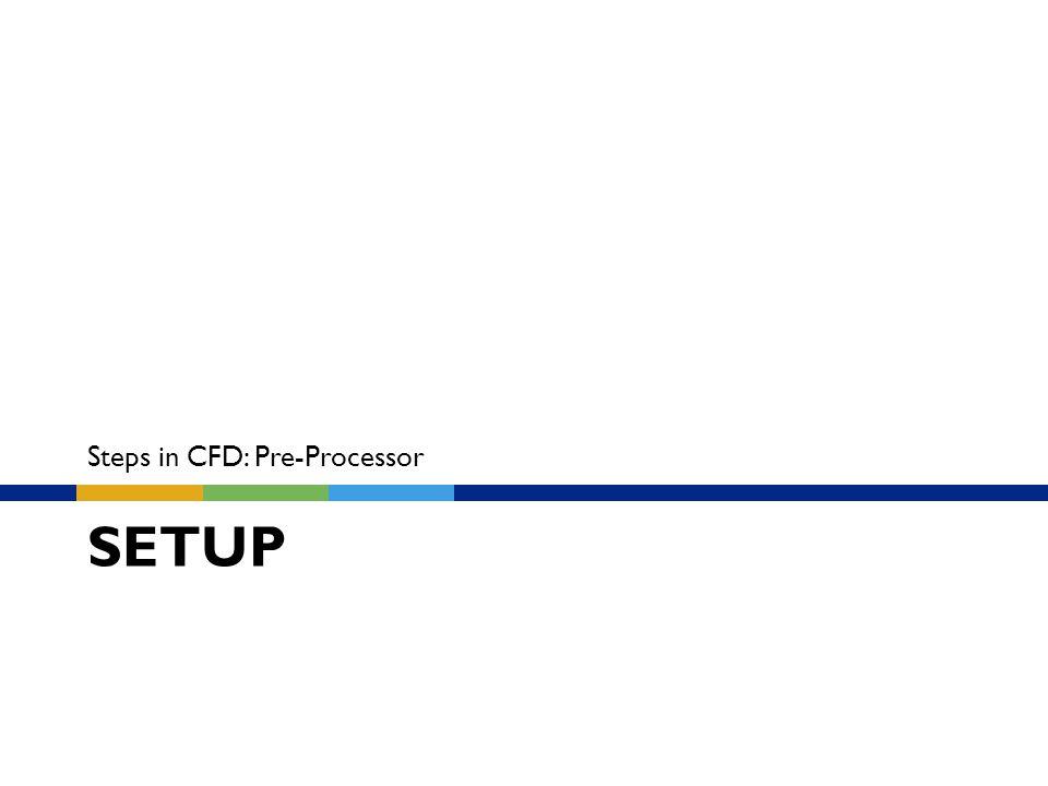 SETUP Steps in CFD: Pre-Processor