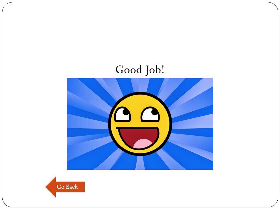 Good Job! Go Back