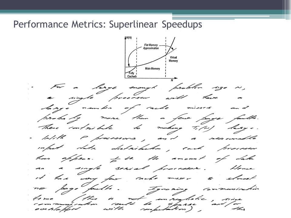 Performance Metrics: Superlinear Speedups