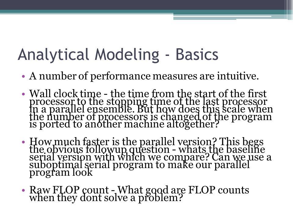 Performance Metrics: Speedup Bounds Speedup can be as low as 0 (the parallel program never terminates).