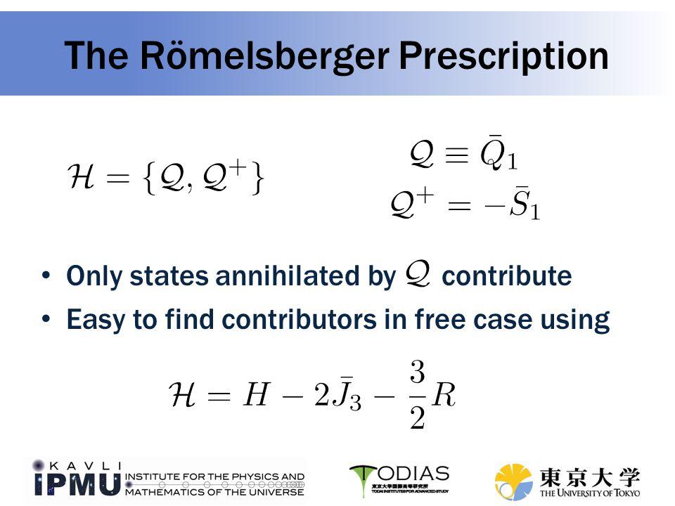 The Römelsberger Prescription