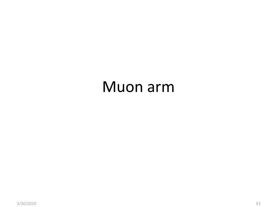 Muon arm 3/30/201053
