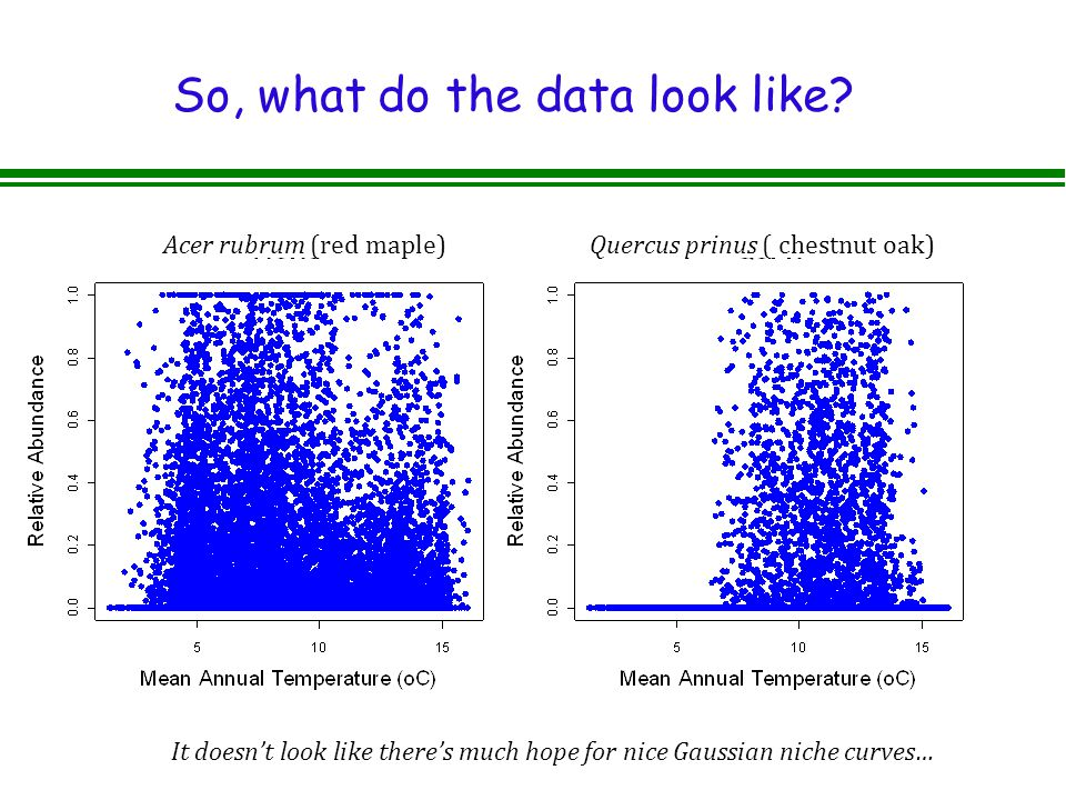 So, what do the data look like.