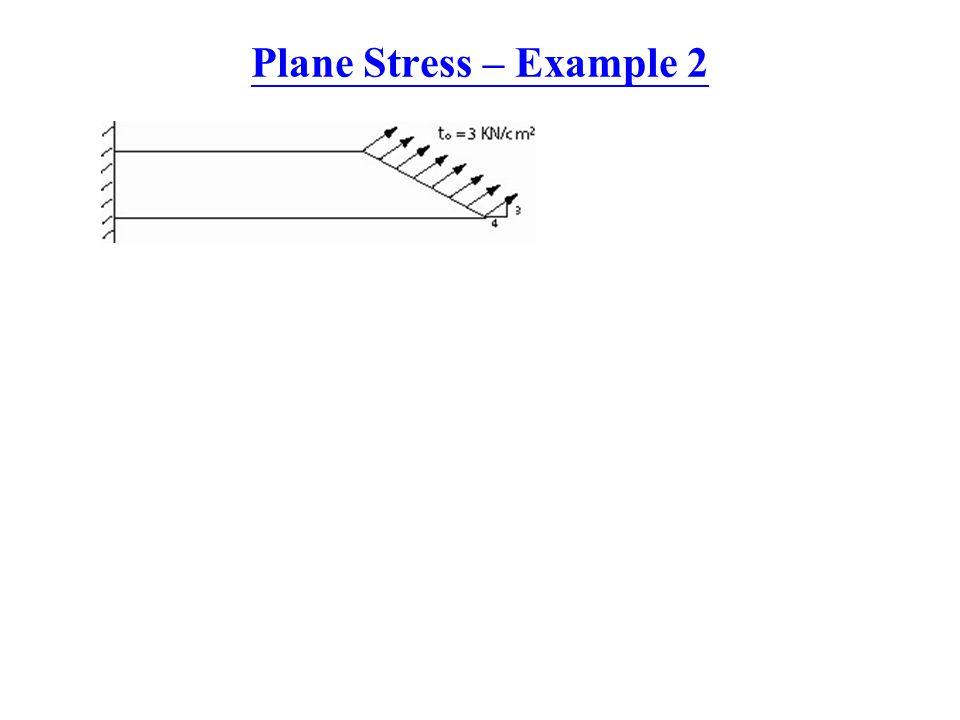 Plane Stress – Example 2