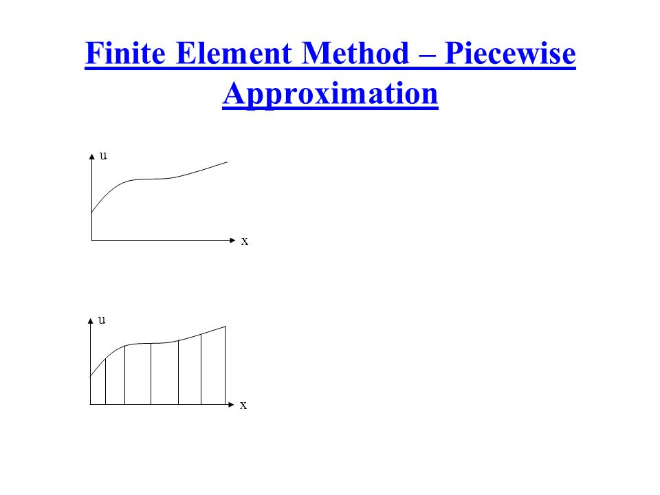 Finite Element Method – Piecewise Approximation x u x u