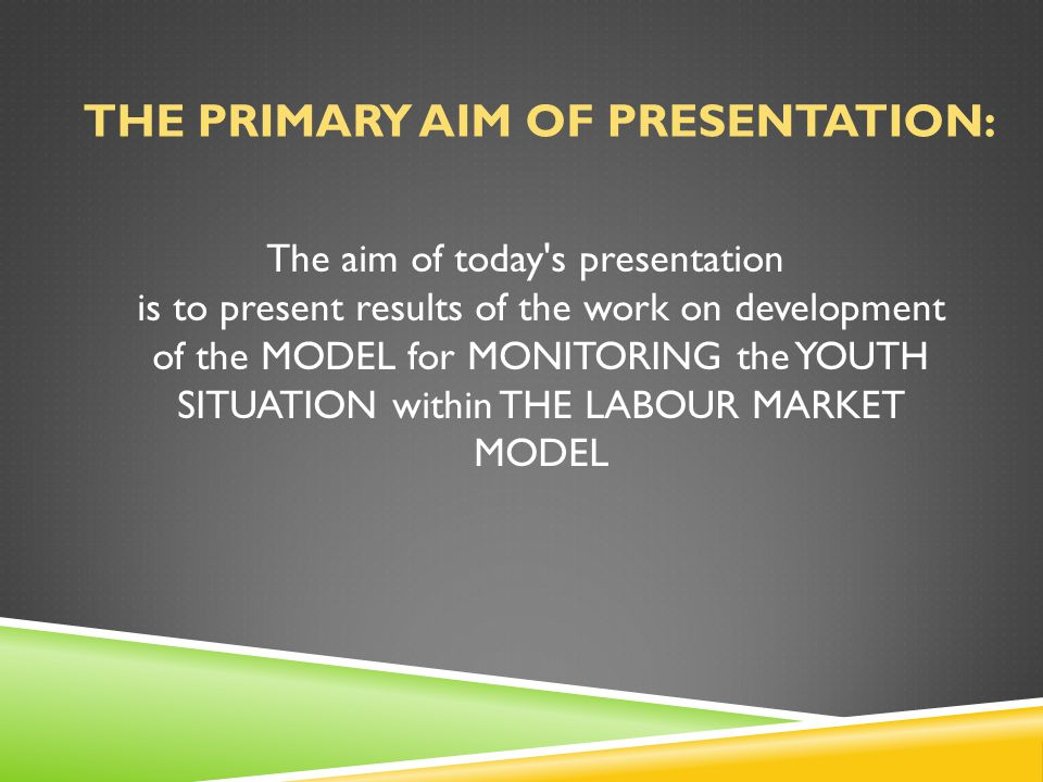 ORIGIN OF THE WORK ON THE DEVELOPMENT OF THE MODEL FOR MONITORING THE SITUATION OF YOUNG PEOPLE IN THE LABOUR MARKET The work on the model was done in a two-fold manner.