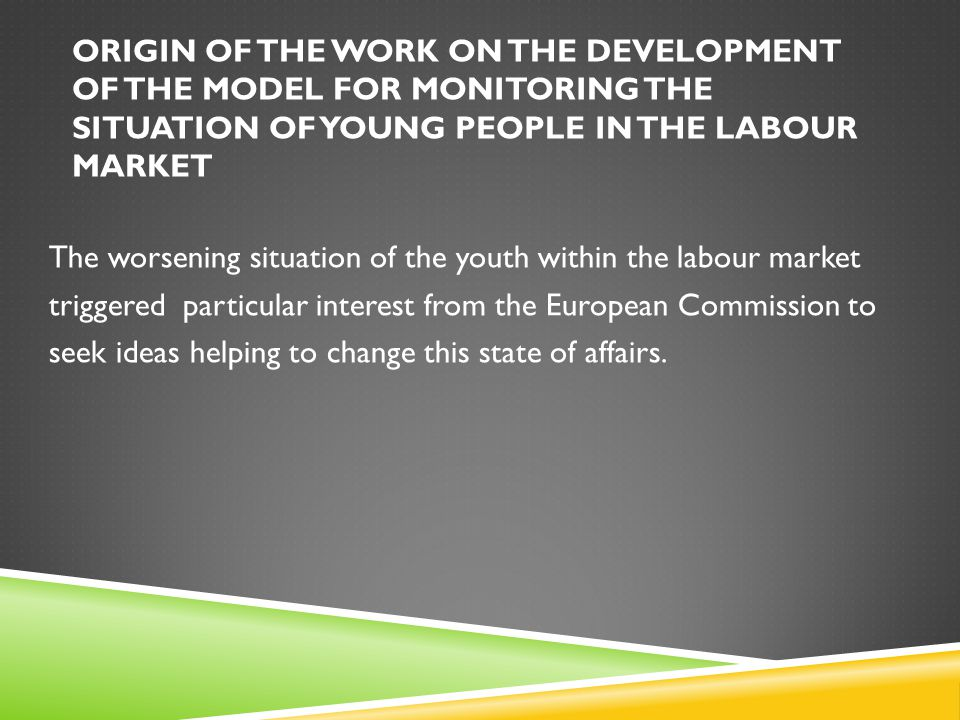 DEMOGRAPHY IDENTIFICATION OF RESEARCH PROBLEM There is a regular loss of labour resources represented by young people.