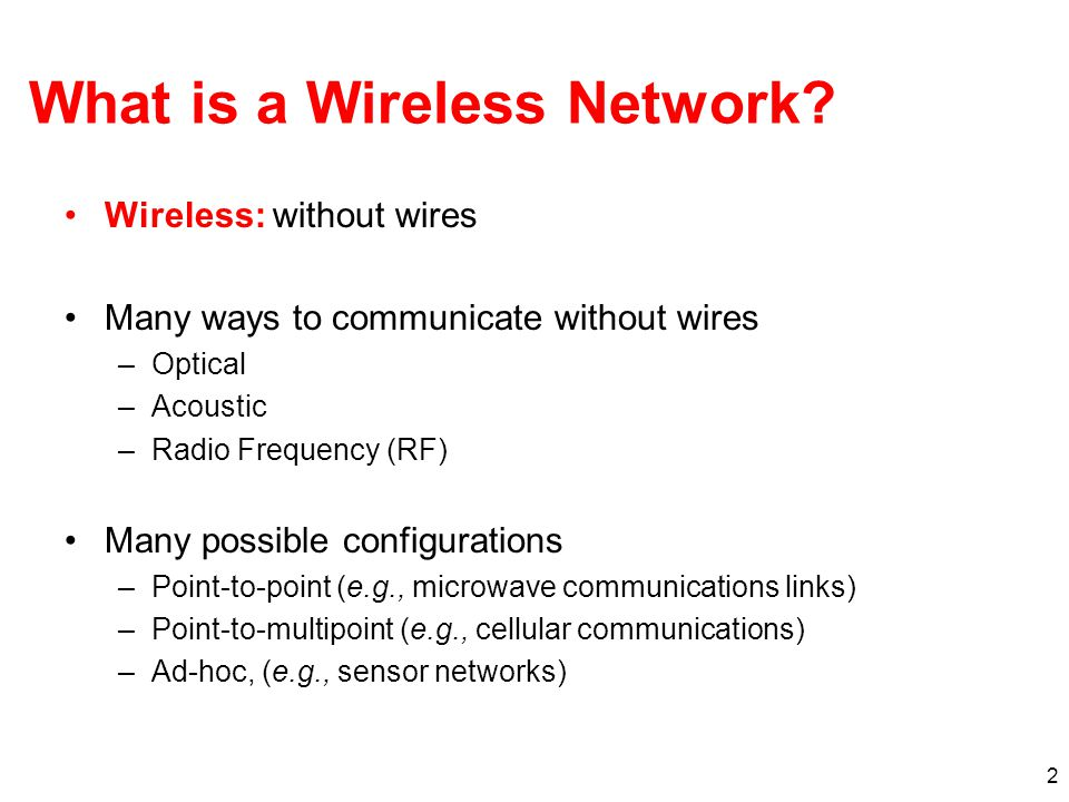 What is a Wireless Network.