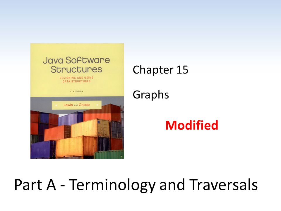 Chapter 15 Graphs Modified Part A - Terminology and Traversals