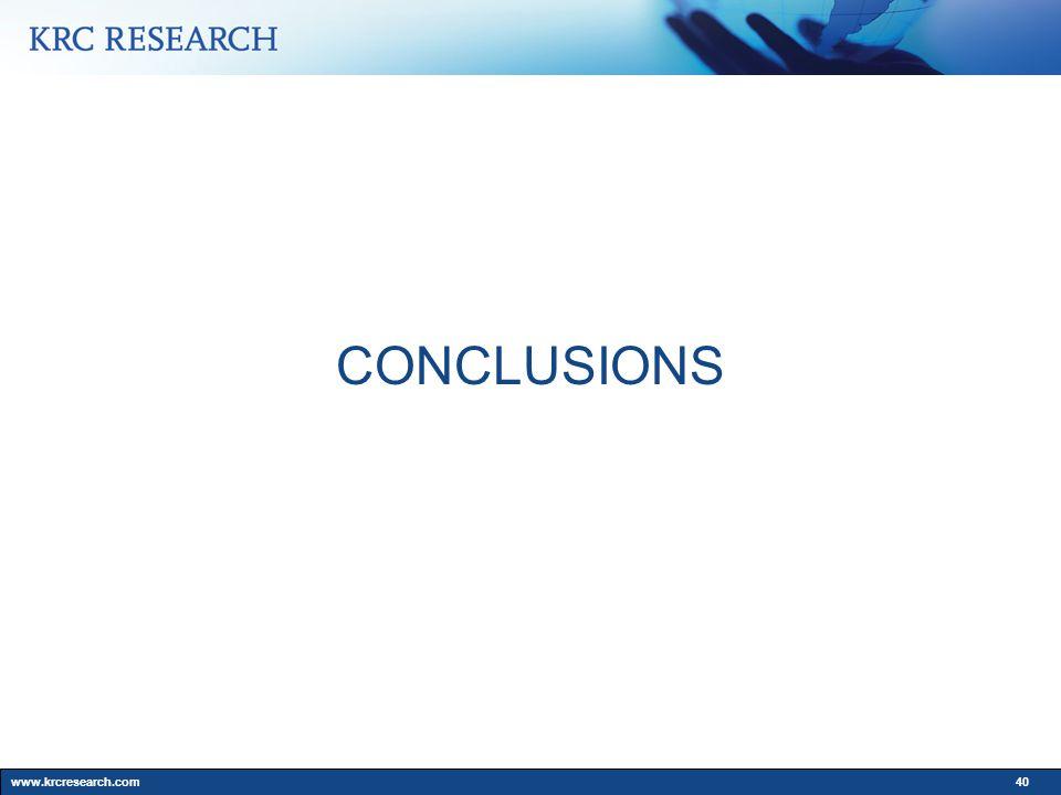 www.krcresearch.com40 CONCLUSIONS