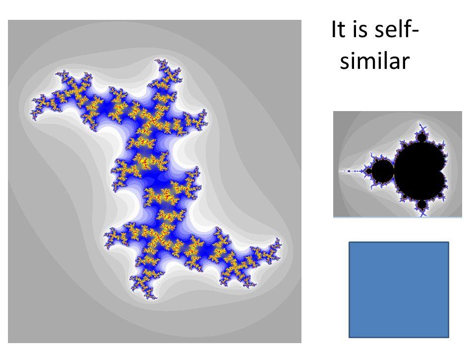 It is self- similar