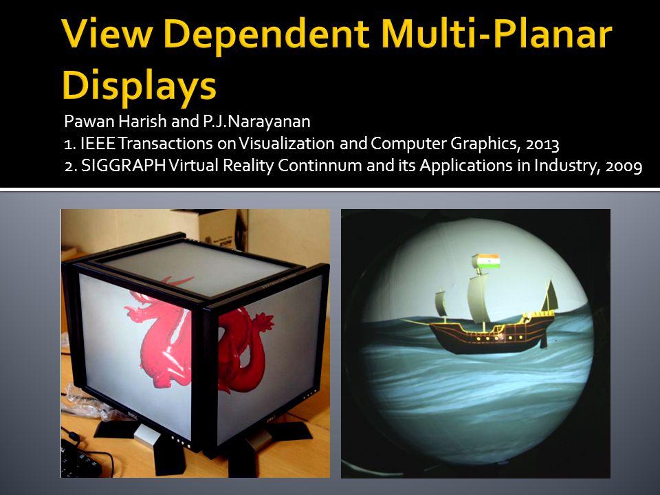 Pawan Harish and P.J.Narayanan 1. IEEE Transactions on Visualization and Computer Graphics, 2013 2. SIGGRAPH Virtual Reality Continnum and its Applica