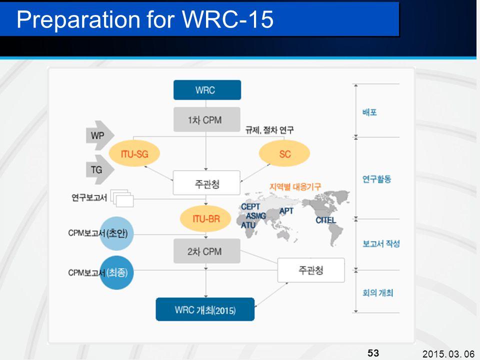 2015. 03. 06 53 Preparation for WRC-15