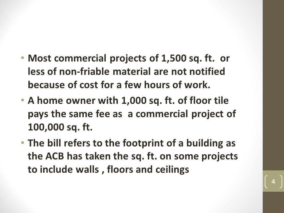 Most commercial projects of 1,500 sq. ft.