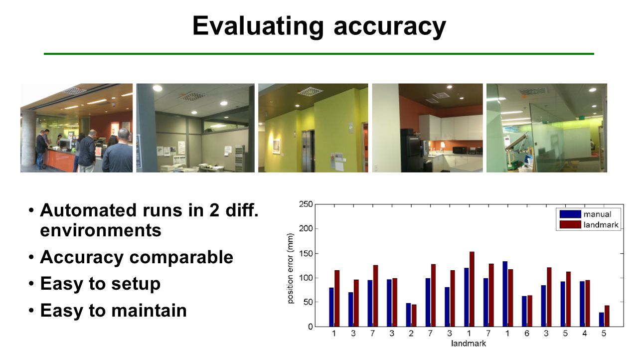 Evaluating accuracy Automated runs in 2 diff.