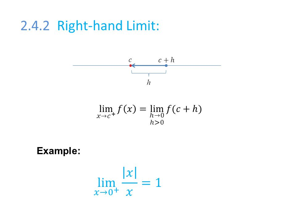 2.4.2 Right-hand Limit: c h