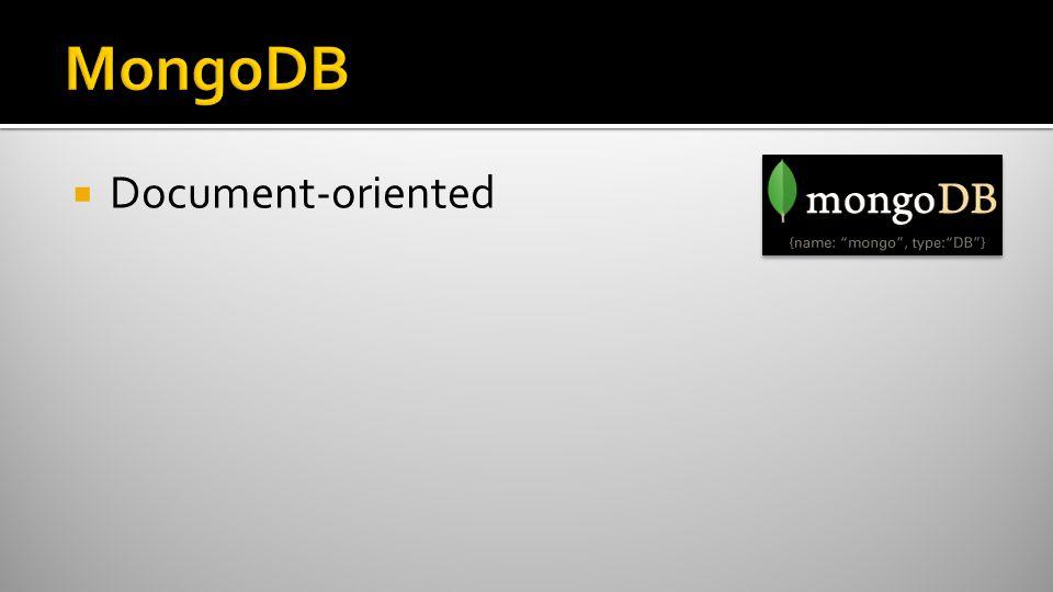  Document-oriented
