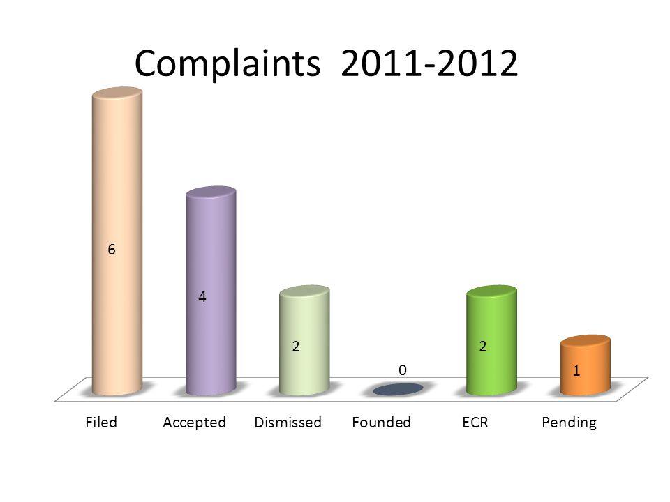Complaints 2011-2012