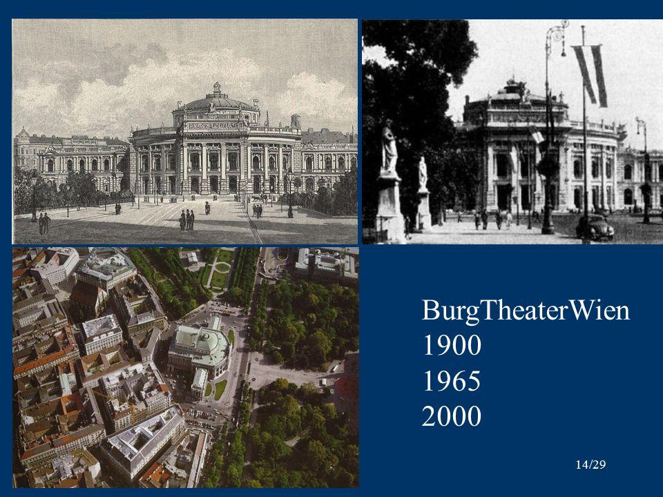 14/29 BurgTheaterWien 1900 1965 2000