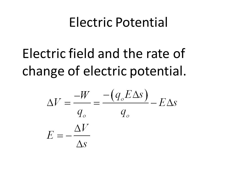 Electric Potential Electric potential of point charges.