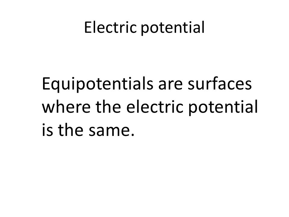 Figure 20-6 Equipotentials for a Point Charge