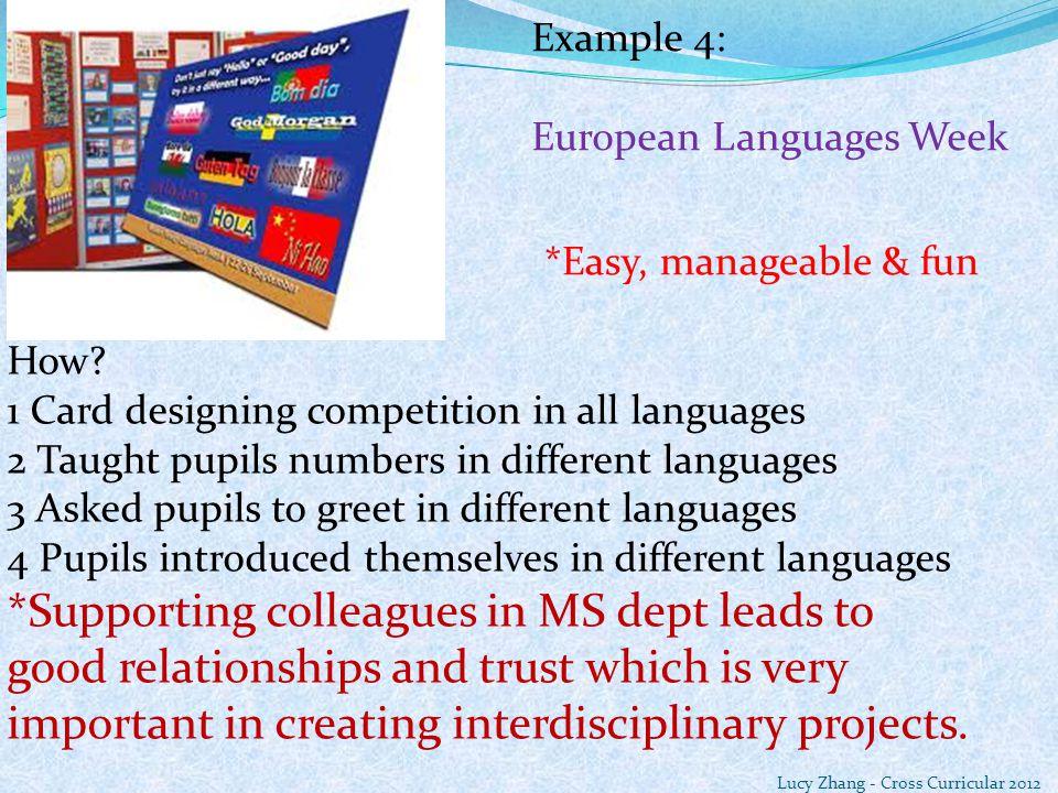 Example 4: European Languages Week How.