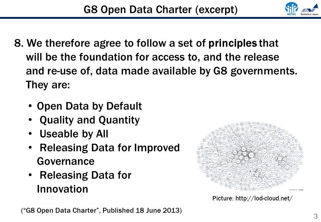 G8 Open Data Charter (excerpt) 3 8.