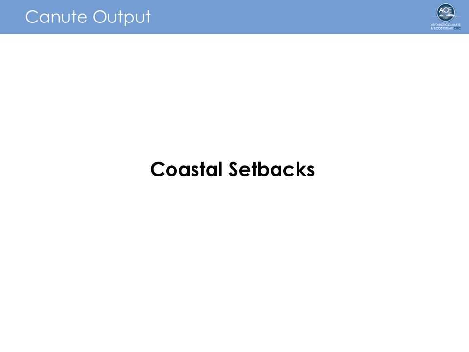 Canute Output Coastal Setbacks