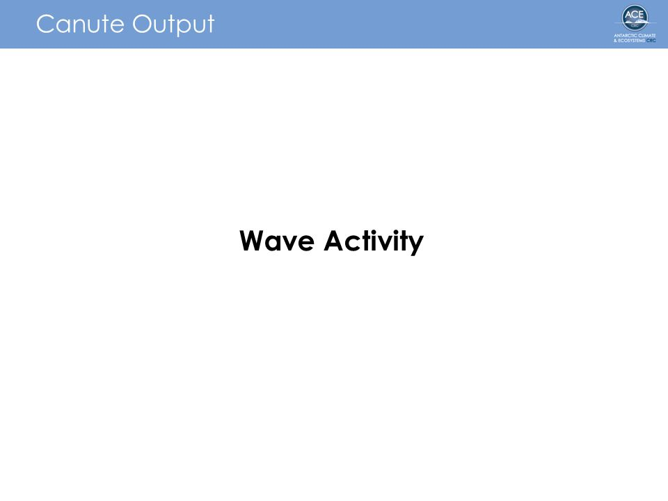 Canute Output Wave Activity