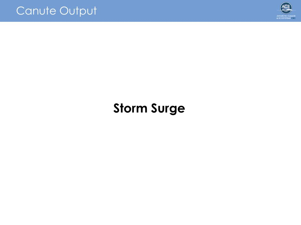 Canute Output Storm Surge