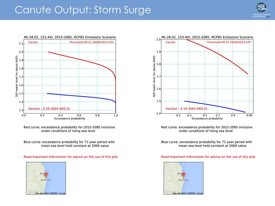 Canute Output: Storm Surge