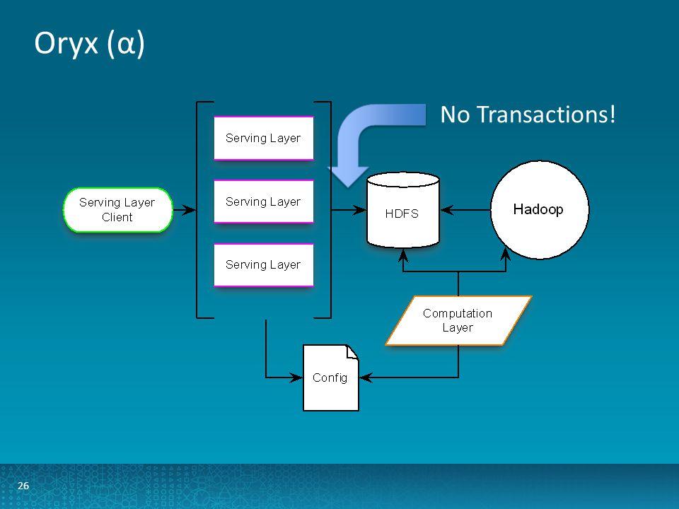 Oryx (α) 26 No Transactions!