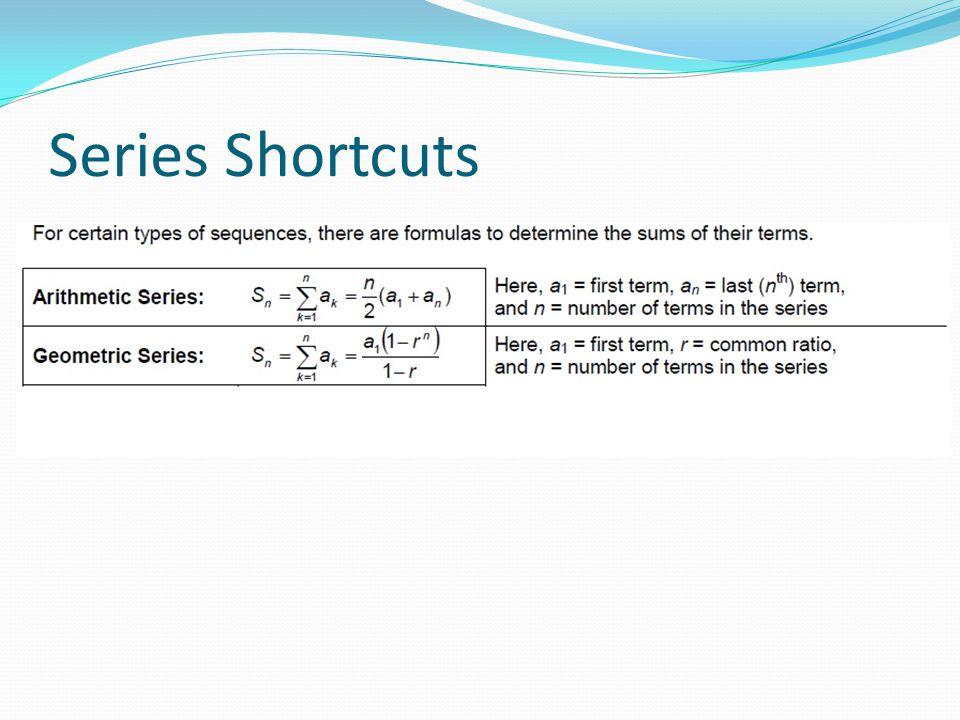 Series Shortcuts