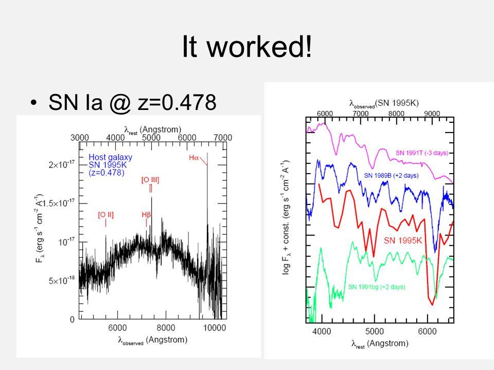 It worked! SN Ia @ z=0.478