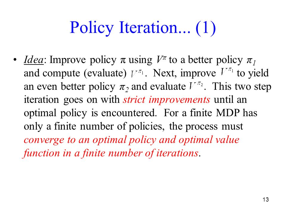 13 Policy Iteration...