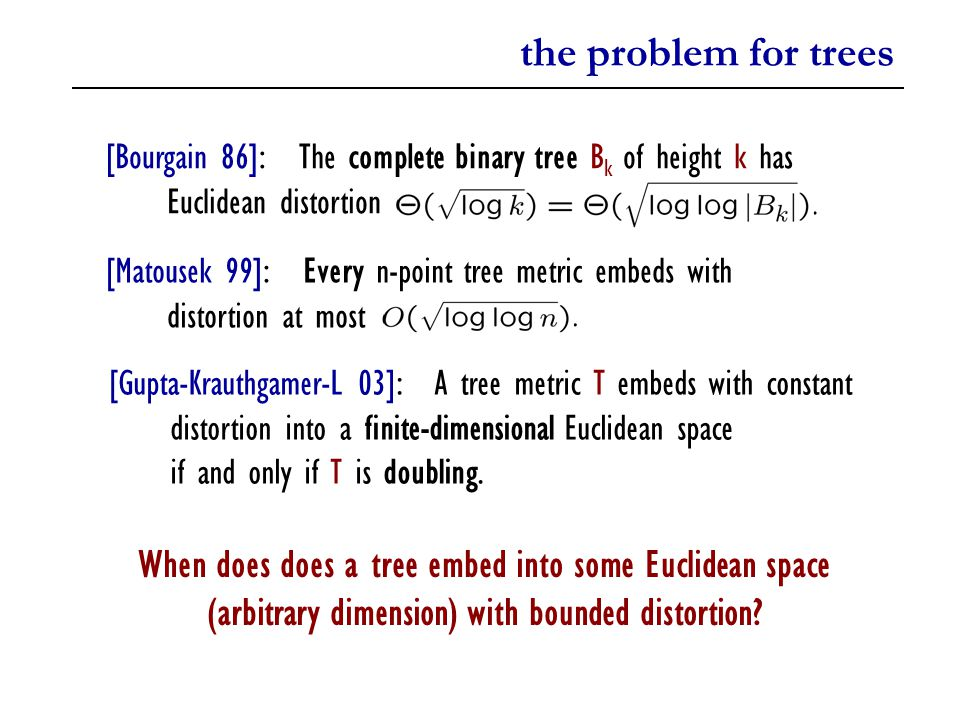cantor trees Spherically symmetric trees (SST): Every path with marked vertices yields a binary SST.