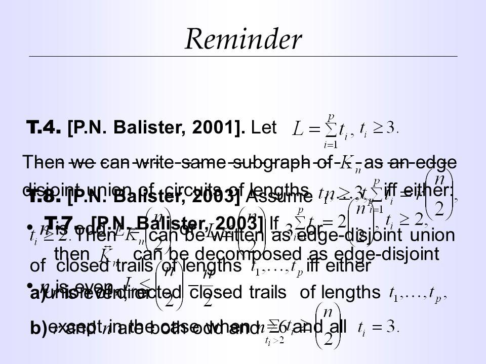 Reminder T.4. [P.N. Balister, 2001].