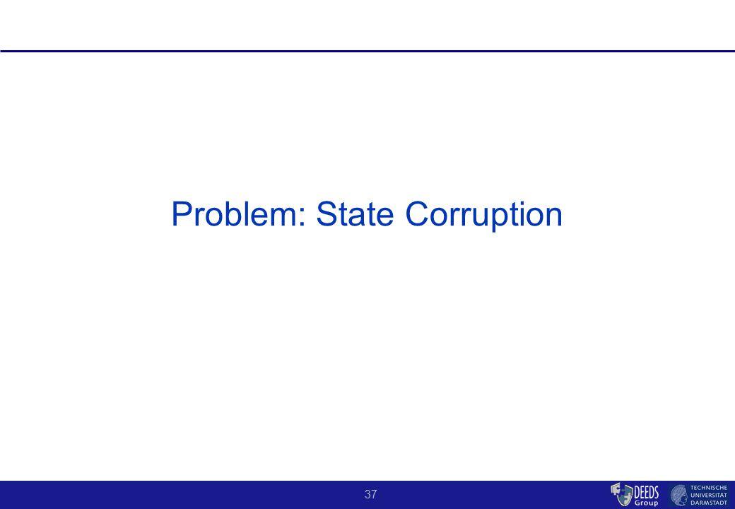 37 Problem: State Corruption