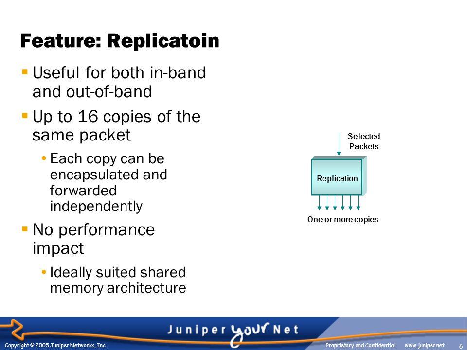 6 Copyright © 2005 Juniper Networks, Inc.