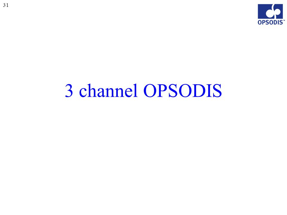 31 3 channel OPSODIS