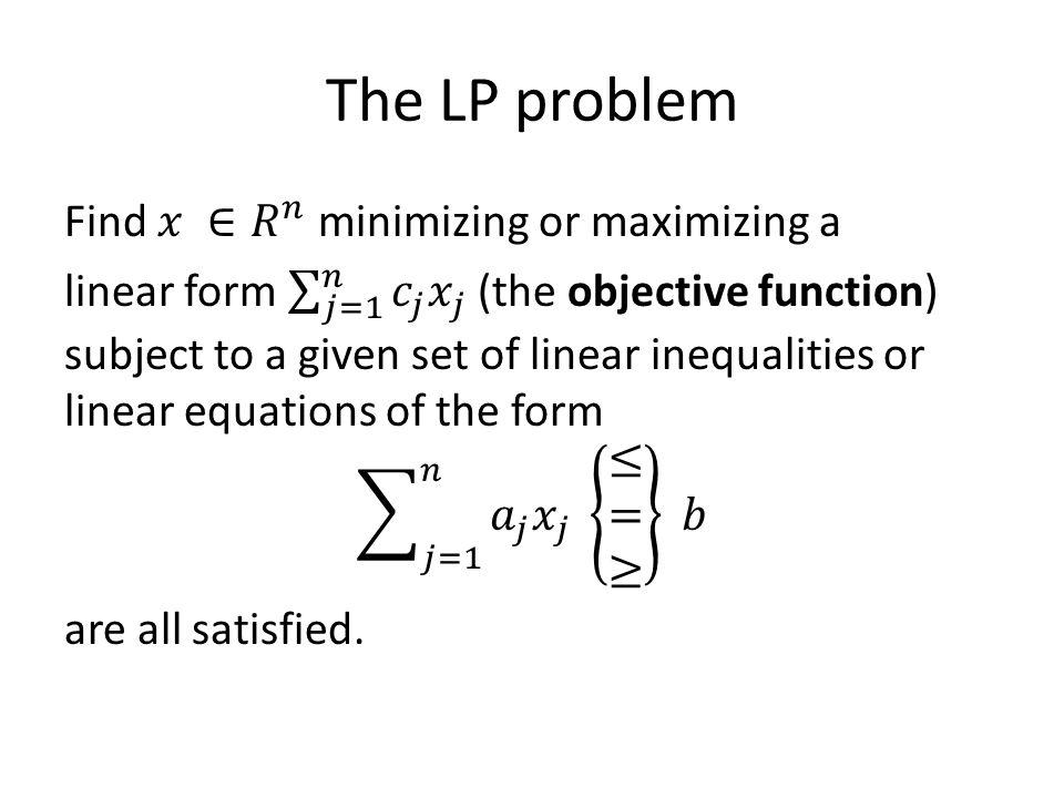 The LP problem