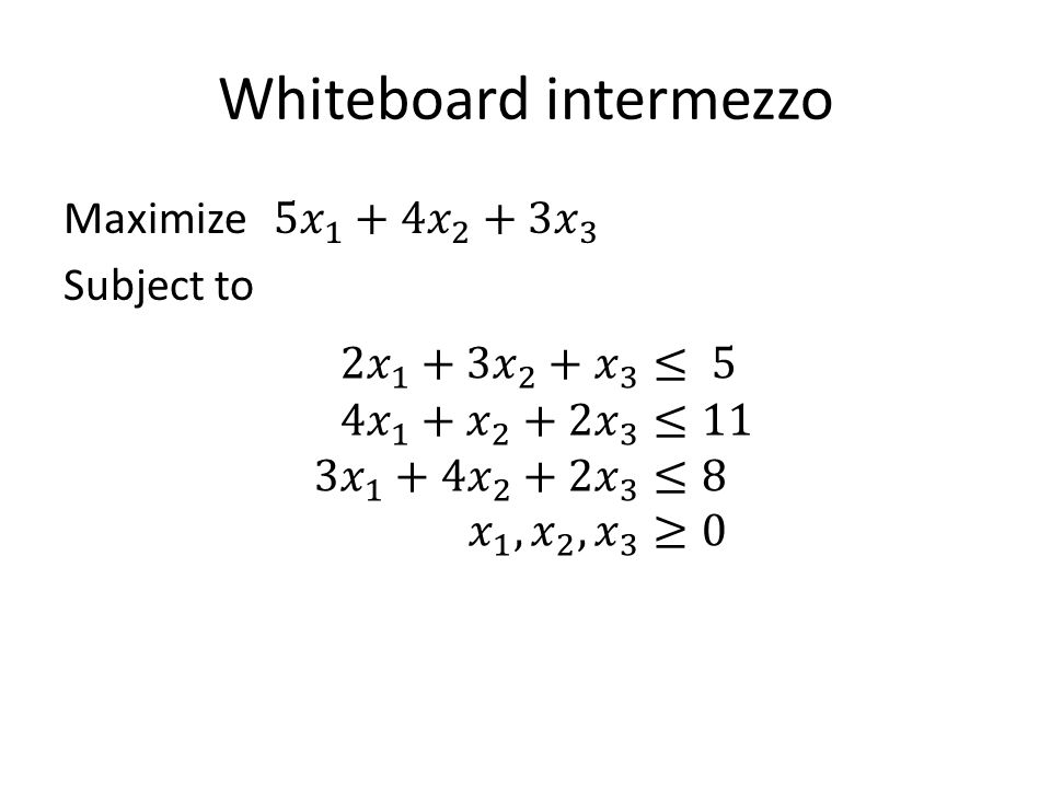 Whiteboard intermezzo